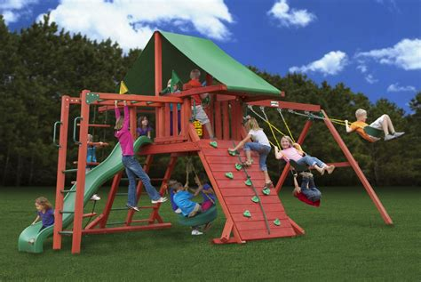 clearance swing sets lowest price gorilla sun valley ii playset swingset
