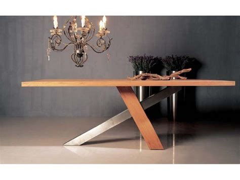 table basse ouvrable table de repas design ch 234 ne massif brut huil 233 inox bross 233 ebinisterie cr 233 ation