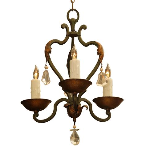 Small Wrought Iron Chandeliers Small Wrought Iron Chandelier At 1stdibs