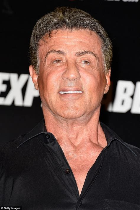68yr old women celebrities sylvester stallone busts out the moves as he takes on the