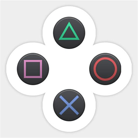 Ps4 Controller Button Stickers ps4 controller buttons playstation sticker teepublic
