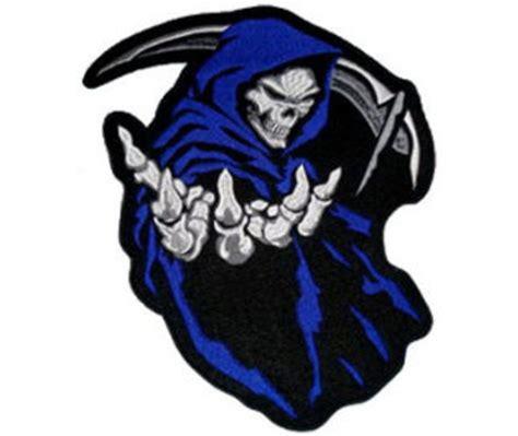 grim reaper blue patch 16cm x 13 5cm 22701