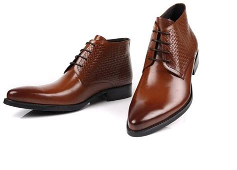 mens brown style boots buy woufo mens brown style leather lined formal chelsea