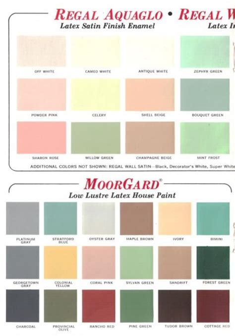 benjamin moor colors 60 colors from benjamin moore s 1969 paint palette retro renovation
