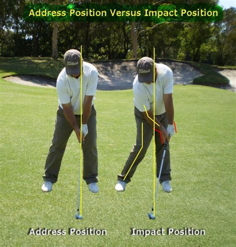 golf swing impact position impact position ball golf
