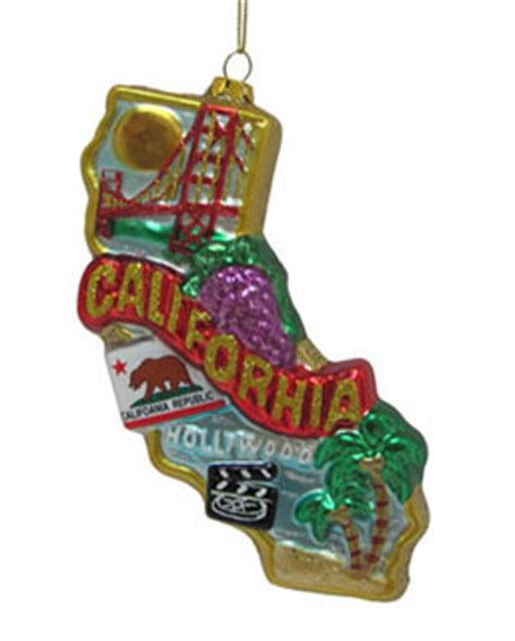 california christmas ornament state christmasornaments com