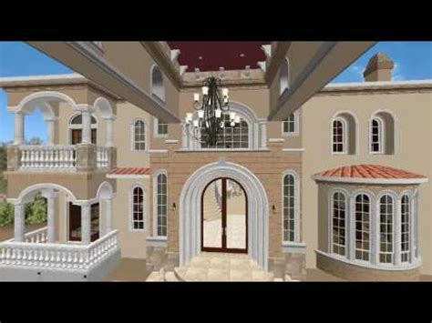 house 3d model glenridge hall part 1 youtube front elevation 3d walkthrough los largos granite bay