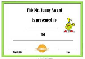 silly certificates awards templates award certificates with the mr