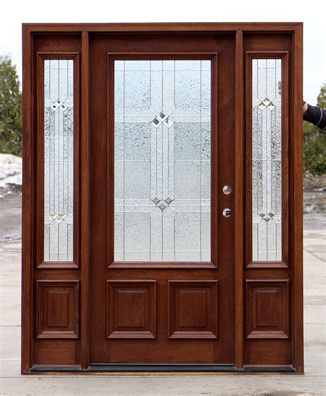 Mahogany Front Door With Glass by Exterior Door With Square Glass