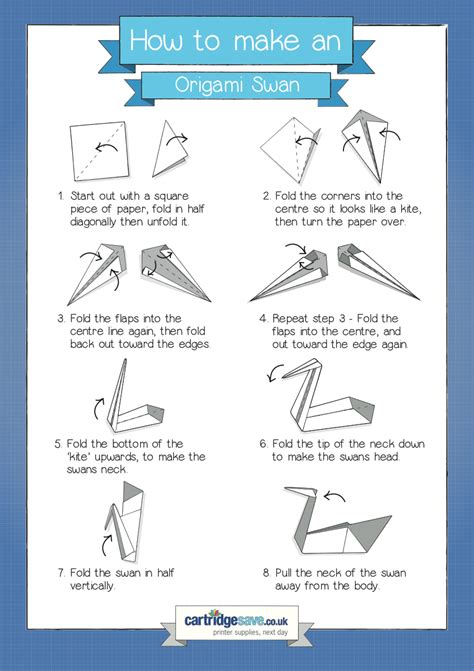 How To Make Swan With Paper - how to make an origami swan cartridge save