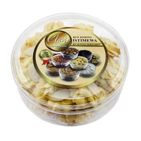 jual claris home made kue kering kacang almond sedang harga kualitas