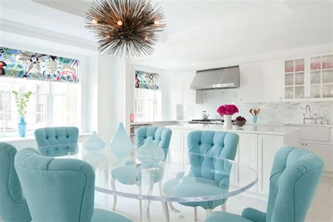 turquoise velvet chairs eclectic dining room fawn