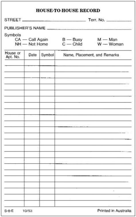 Congregation Publisher Record Card Template by Do Only Jehovah S Witnesses Follow Jesus Command To Preach