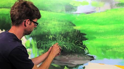 Tree Wall Murals clip from quot how to paint grass amp hills quot with mural joe