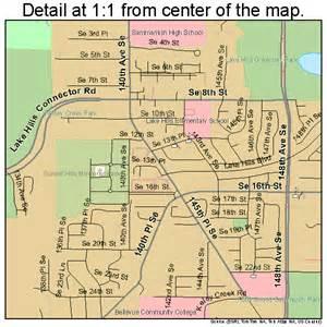 Bellevue Washington Map by Bellevue Washington Street Map 5305210