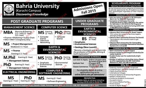 Government For Mba Marketing by Bahria Admission In Bs Bba Llb Ms And Phd