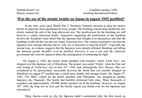 Atomic Bomb Essay by Was It Necessary To Drop The Atomic Bomb Essay