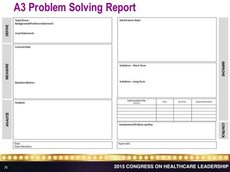 sle a3 problem solving report lean six sigma and innovation companions