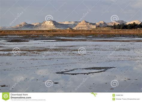 salt l lac salt dans l oasis de siwa images stock image 18465784