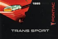 automotive repair manual 1995 pontiac trans sport parking system 1995 pontiac trans sport owner s manual