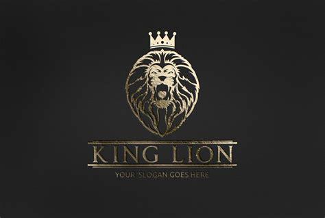 king lion logo logo templates creative market