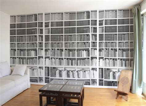 Tapisserie Bibliotheque by Une Biblioth 232 Que En Papier Peint Trompe L œil D 233 Co Des