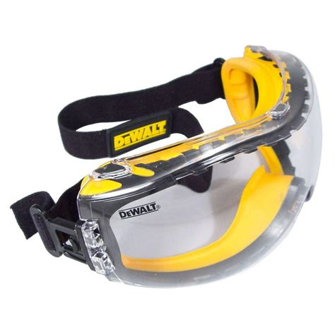 dewalt safety goggles concealer with clear anti fog lens