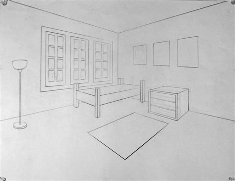 Two Point Perspective Interior by Drawing 2 Two Point Perspective Interior Exles