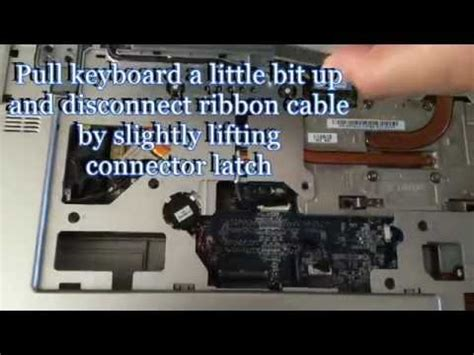dell xps m1710 keyboard replacement procedure youtube