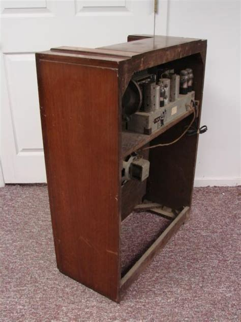 Wood Cabinet Parts by Philco 39 40 Antique Console Radio Deco Wood Cabinet