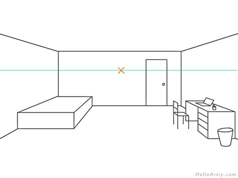 draw  sofa   point perspective baci living room
