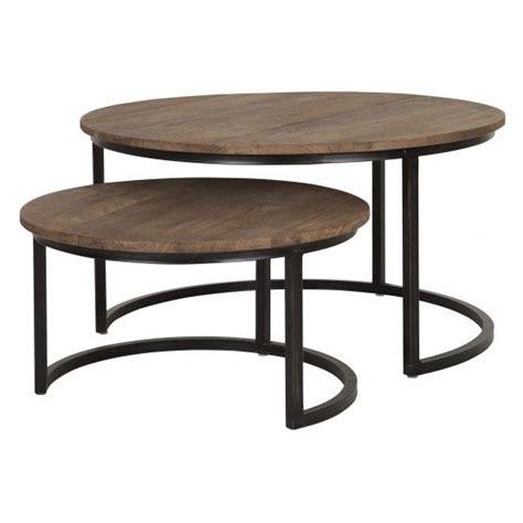 ronde salontafel hout ikea salontafel rond set van 2 d bodhi fendy collection tafels