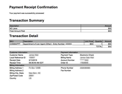 transaction receipt template how to find the liensnc transaction receipt liensnc