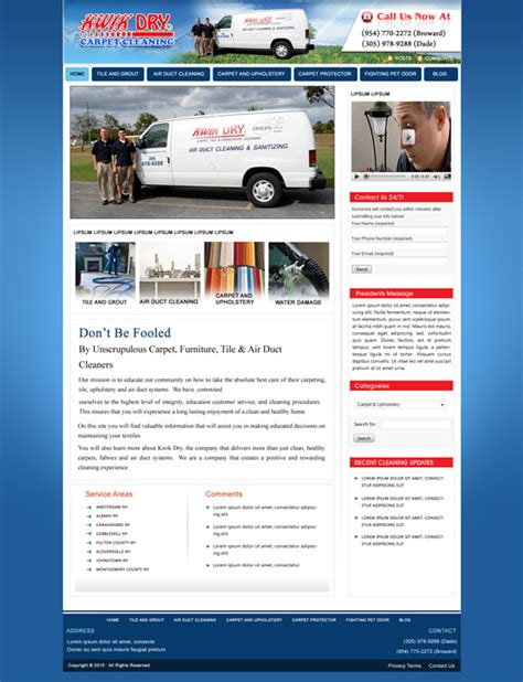 Carpet Cleaning Website Template Popteenus Com Carpet Cleaning Website Template