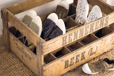 ideas para hacer un zapatero con materiales reciclados reciclar cajas de fruta para decoracion zapatero blog