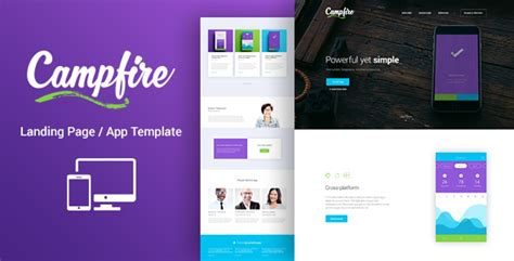 Cfire Responsive Landing Page Template By Lumberjacks Themeforest Woocommerce Landing Page Template