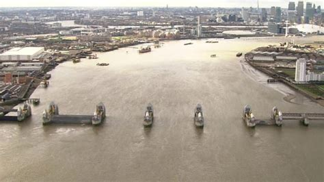 thames barrier bbc bitesize uk floods a helicopter journey along the flooded thames