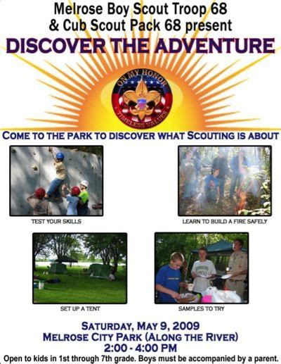 A Scoutmaster S Blog 187 Recruitement Boy Scout Flyer Template