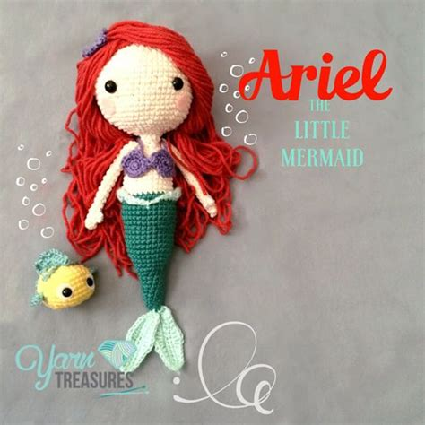 amigurumi ariel pattern ariel doll by yarn treasures www yarntreasures com