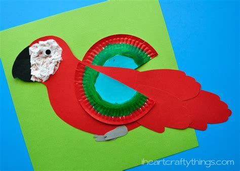crafts free how to make a colorful macaw craft for with free