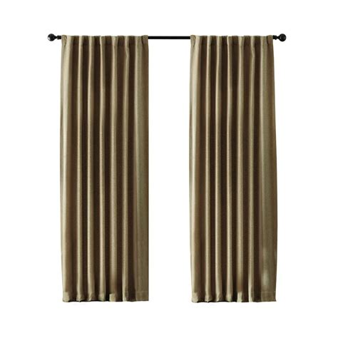 home depot drapes home decorators collection linen leaf embroidery rod