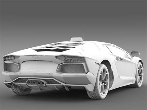 Lamborghini 2016 Models Lamborghini Aventador Taxi 2016 3d Model Obj 3ds Fbx C4d