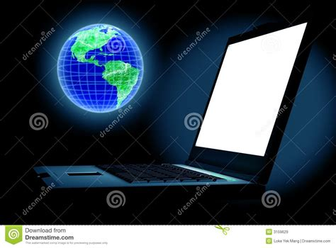 Pc World Desk Top Computers Computer World Stock Illustration Image Of Planet Laptop 3159629
