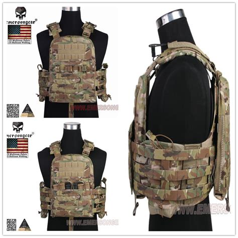 Airsoft Tactical Combat Styles Emerson Protecti Murah tactical vest airsoft combat merson cp style cherry plate carrier ncpc genuine multicam