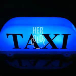 new led taxi cab top sign light l roof magnetic blue ebay