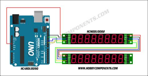 8 Digit Led Display 7 Segments 74hc595 Color Merah forum hobbycomponents view topic max7219 8 digit