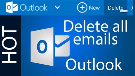 Outlook Not Searching All Emails How To Delete All Emails In Outlook Hotmail Tutorial