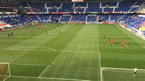 red bull arena section  row  seat   york red
