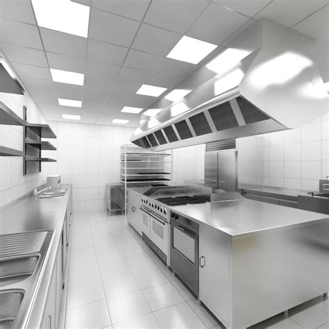 Commercial Kitchen Designs 3d industrial kitchen model