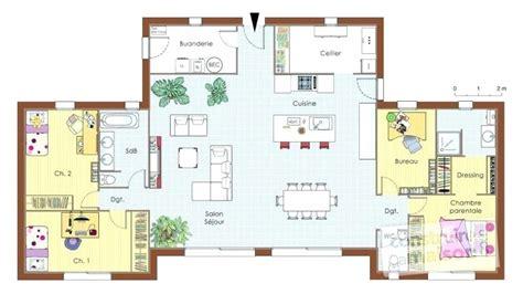 Plan De Maison Plain Pied 4 Chambres 3547 by Plan Maison Plain Pied Gratuit 4 Chambres Avie Home